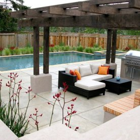 mediterranean-landscape-modern-lounger-outdoor-kitchen-pergola-cheap-backyard-landscaping-arbor-dining-fireplace