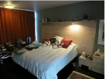 Makuuhuone pimenettynä (oma kuva)