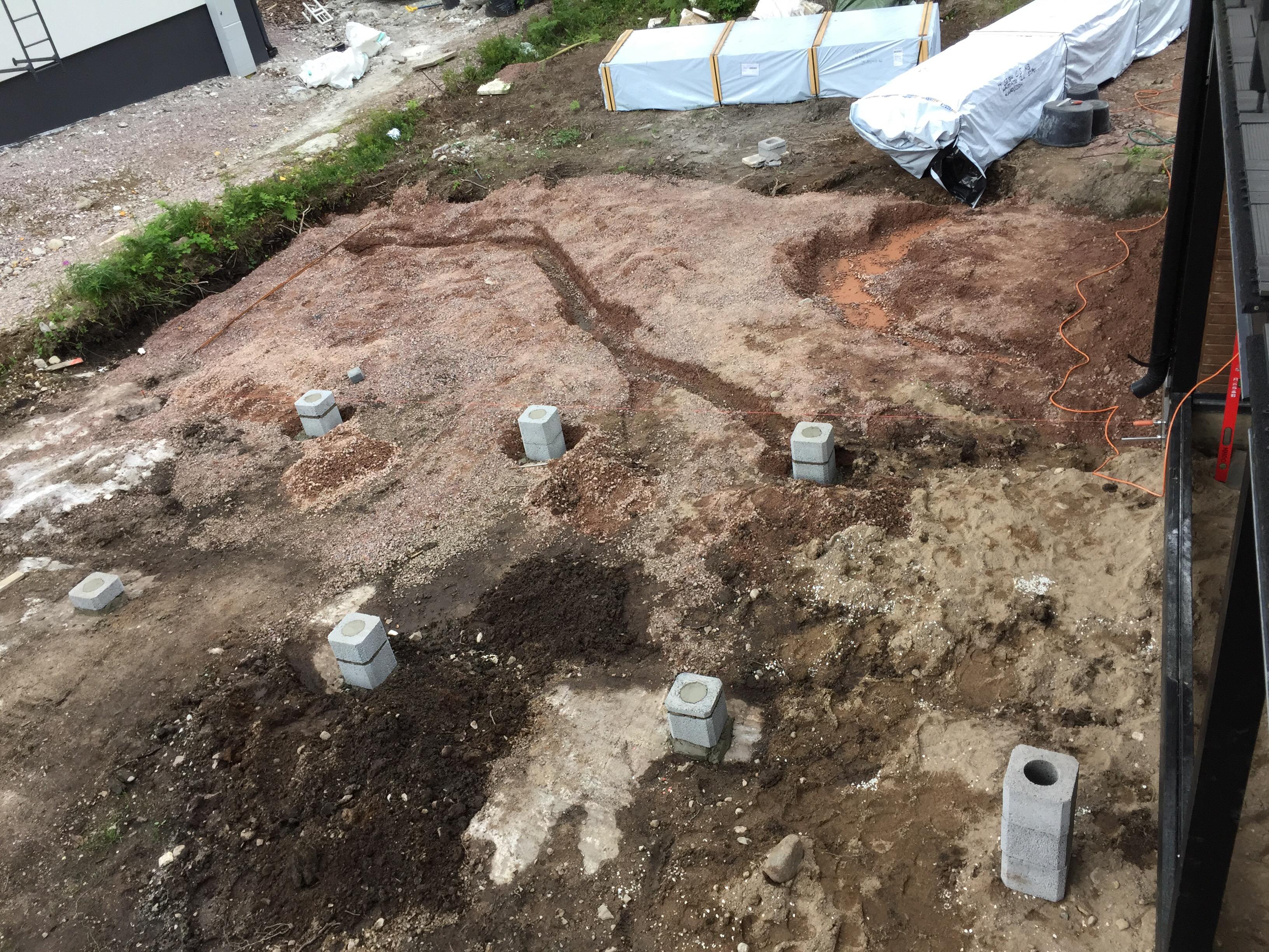 Pergolan rakentaminen Bungalow taloon