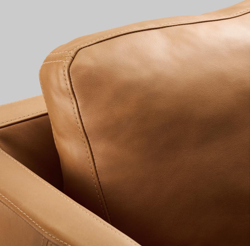 Ikea Stockholm 2013 Seglora vaalean ruskea nahka sohva