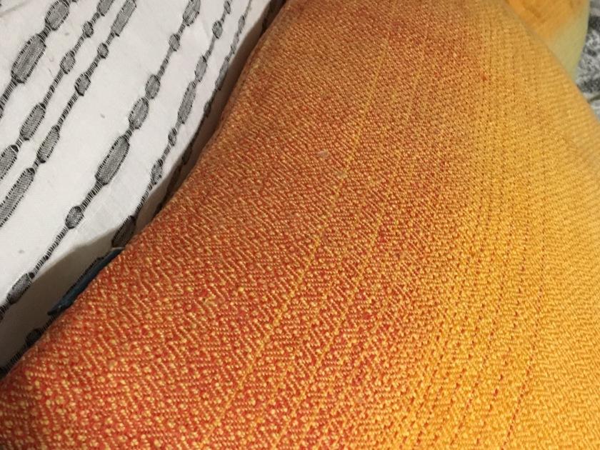 Pellavatyynyt, makuuhuone, oranssi Syksy, mustavalkoinen Koivu