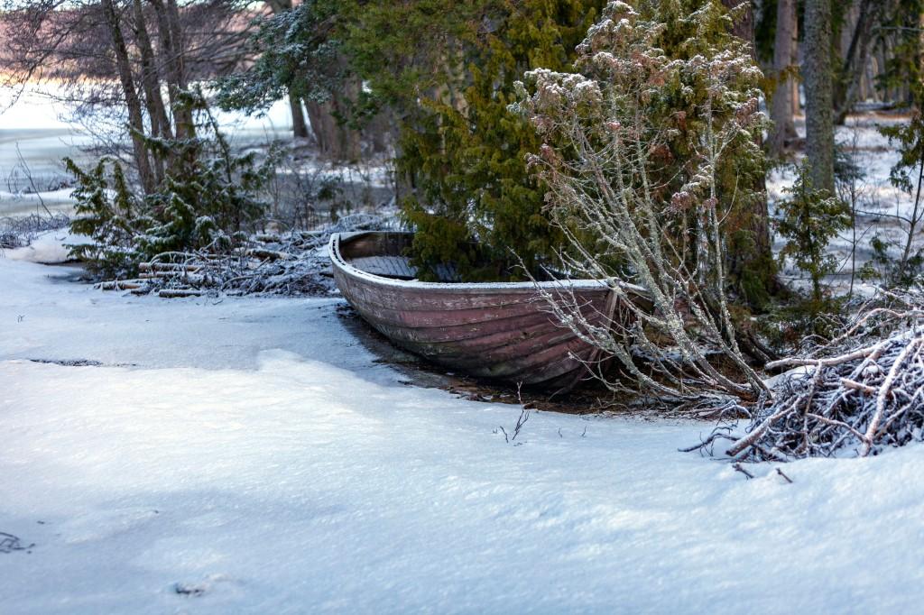 Kopparnäs, puinen soutuvene